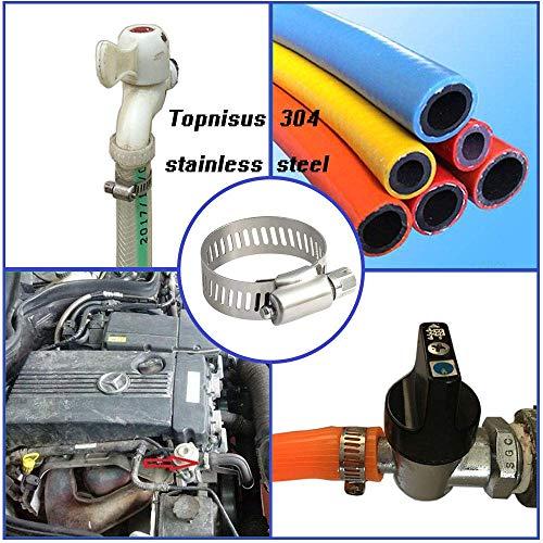 Morsetto per Tubi Gomma P Clips Fascette Stringitubo 6//8//9//13//16mm Zincato Tubo di Metallo Morsetto 42 Pezzi