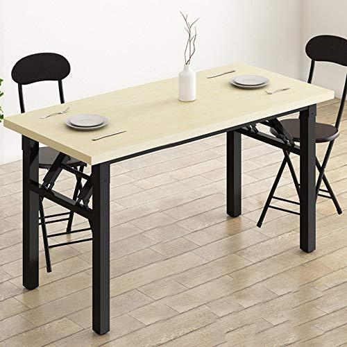 QYT-Mesa de Ordenador Moderno Escritorios para Computadora Escritorio de Oficina Mesa de Trabajo Mesa de Estudio de Madera y Acero, 120x50x74cm,A