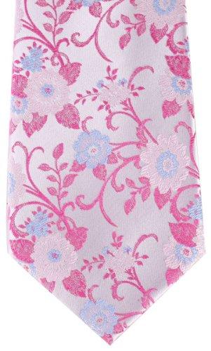 David Van Hagen Cravate florale rose de
