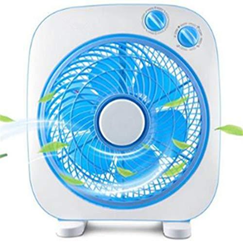 VIWIV Viño de Escritorio Material de PP 10 Pulgadas Ventilador de Escritorio Hogar Fan de página Estudiante Mudo Mini Ventilador Dormitorio de temporización Interruptor mecánico Azul