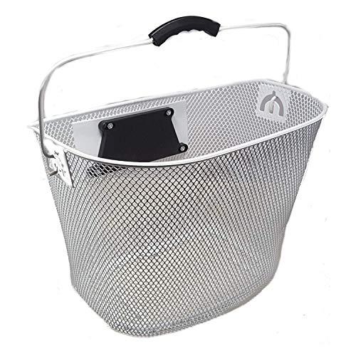 Unbekannt Ventura Fietsmand Handlebar Basket Stabilizer Clip-On Beugel Wit