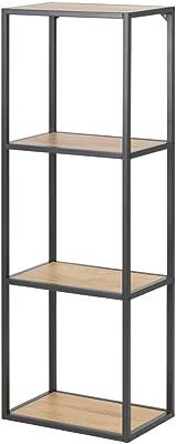 Selsey KRAPINA - Bibliothèque -108 cm - chêne - châssis en métal - Style loft