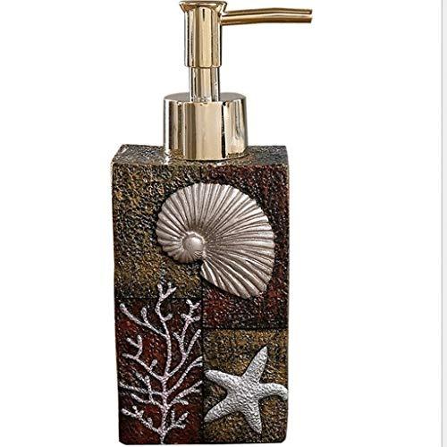 Accesorio de baño conjunto dispensador de jabón creativo estrella de mar resina jabón dispensador baño cocina oficina oficina mano bombeo botella champú ducha gel loción botella botella de jabón bomba