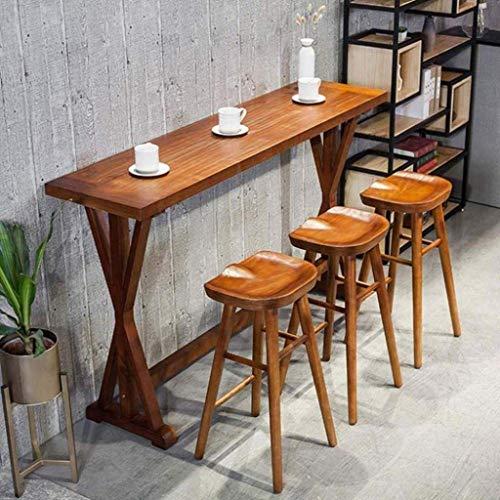 WTT Barkrukken in massief hout met teller Koffie Keuken Ontbijt Pub Conservatorium Teak kleur Vintage stoelen Barkrukken Zadelvormige zitting 21/25/29 inch voetsteun Kruk stoel