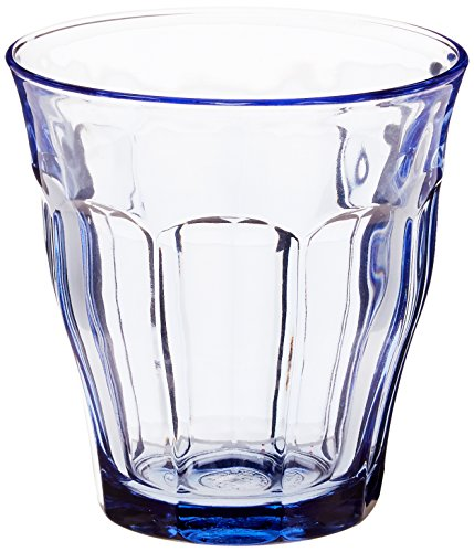 Duralex Picardie Trinkglas, 250 ml, Marineblau, 6 Stück