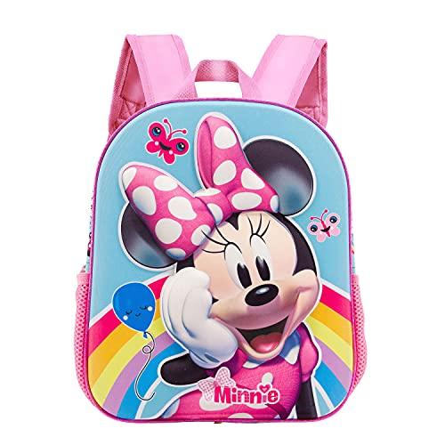 KARACTERMANIA Minnie Mouse Rainbow-Mochila 3D (Pequeña), Multicolor, M