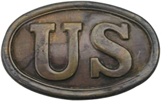 Solid Brass Civil War US Army Puppy Paw Belt Buckle