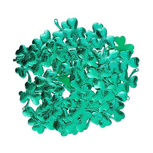 BESTOYARD 100pcs Confettis Saint Patrick en Tissu Forme de Trèfle Decoration Fête Irlandaise Anniversire Mariage Vert 3cm