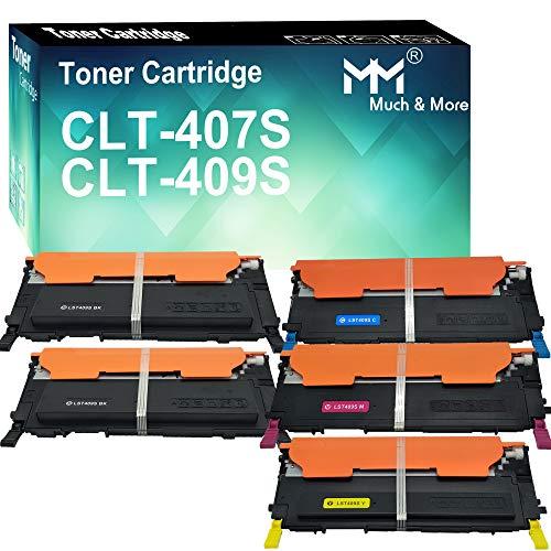 (5-Pack) Compatible 409S CLT-409S CLT-K407S CLT-C407S CLT-M407S CLT-Y407S CLT-407S Toner Cartridge 407S CLP-325 Used for Samsung CLX-3185FW 3185N CLP-320N CLP-321N CLP-325W Printer, by MuchMore