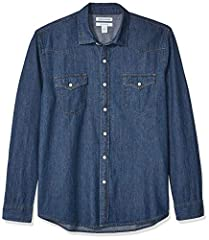 This weekend-perfect denim shirt features a patch chest pocket. Made in our Signature Tumbled Cotton for a soft, yet sturdy, hand. We utilize a unique Heritage Wash to give our garments a custom, lived-in feel right away Regular Fit: room in the ches...
