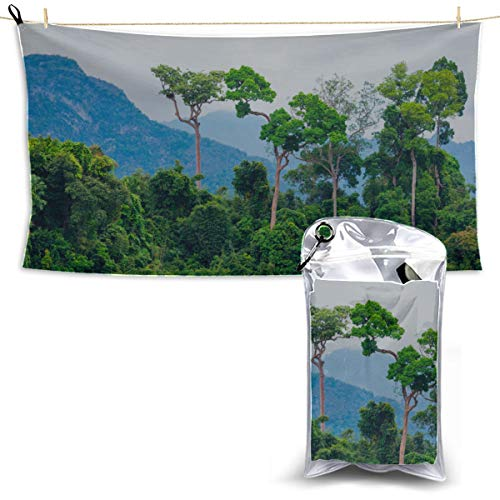 Amazon Primeval Jungle Camping Towel Beach Bath Towels Quick Dry Travel Beach Towel Bath Towel for Travel 27.5'' X 51''(70130cm) Best for Gym Travel Camp Yoga Fitnes