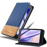 Cadorabo Funda Libro para Motorola Moto G4 / G4 Plus en Azul MARRÓN - Cubierta Proteccíon con Cierre Magnético, Tarjetero y Función de Suporte - Etui Case Cover Carcasa