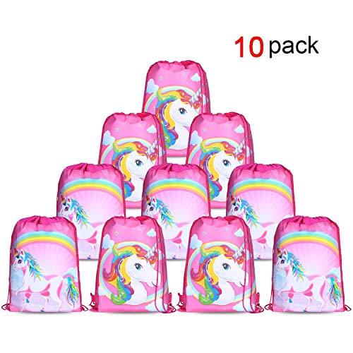 Konsait Einhorn Muster Cute Kordelzug Rucksack Bag Turnbeutel für Kinder Mädchen Frauen Gym Sack...