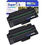 SuperInk Compatible Toner Cartridge Replacement for Samsung 105 MLT-D105L 105L MLTD105L Use with Samsung ML-2525 ML-2525W ML-2545 ML-1915 SCX-4623F SCX-4623FN SF-650 Printer (Black, 2 Pack)