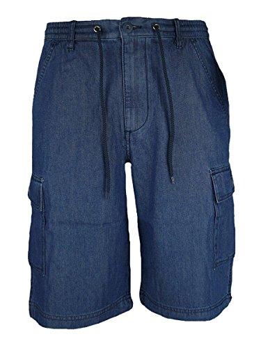 Bermuda Pantalone Corto Uomo Taglie Forti Sea Barrier Art Marea Denim CONF