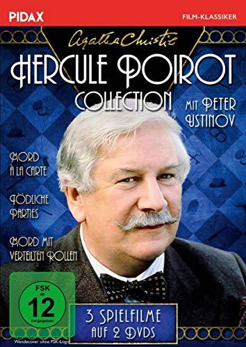 Agatha Christie: Hercule Poirot-Collection (Mord à la Carte + Mord mit verteilten Rollen + Tödliche Parties) (Pidax Film-Klassiker) [3 DVDs]