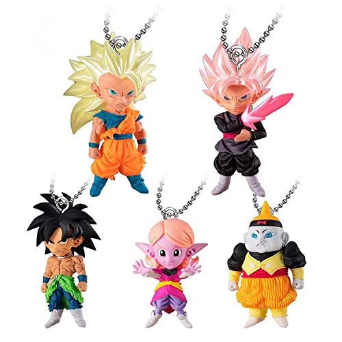 Dragon Ball Super UDM The Burst 38 - Figura de Goku Rose Goku Zamasu Chronoa Broly Android 19 PVC Model Toys (1 Set (5 unidades)