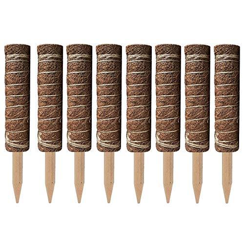 Fauge 8Pcs Coir Totem Pole Coir Moss Totem Pole para Plantas de ExtensióN de Soporte de Plantas Trepadoras