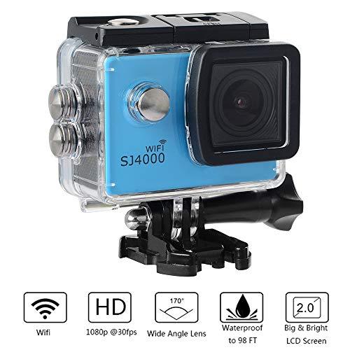 Wifi-sportcamera, HD-onderwater-Extreme-Action Cam, 1080p en 12-MP luchtbeeld DV, 170 ° kijkhoek, 4x digitale zoom, beste reiscadeau in de zomer
