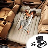 Jukkre Inflatable Car Air Mattress with Pump (Portable) Travel, Camping, Vacation | Back Seat Blow-Up Sleeping Pad | Truck, SUV, Minivan | Compact Twin Size