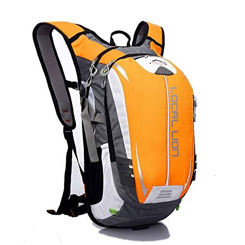 YHSW Sac à Dos de randonnée étanche, Grande capacité, adapté aux Hommes et aux Femmes, Fitness Sportif, Voyages en Plein air, Camping en Plein air Orange 45x24x15cm