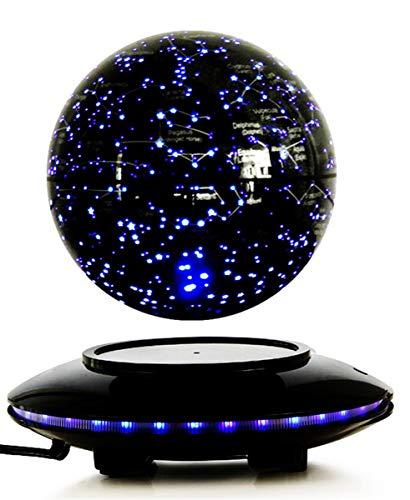 CWXDIAN 6 Zoll Bunte leuchtende Magnetschwebekugel, Sternenhimmel