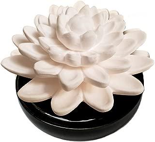 Ellia Calm Waters Porcelain Aroma Diffuser, Black, 0.35 Pound