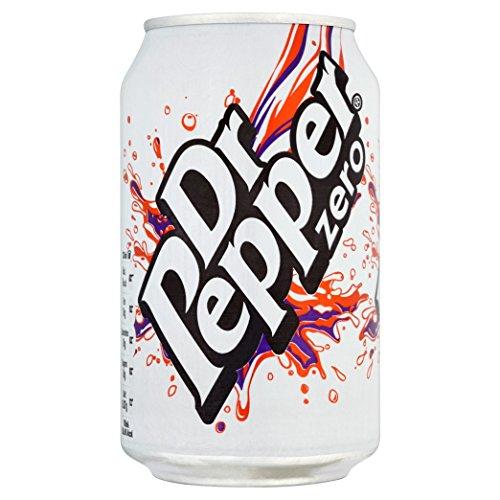 Dr Pepper Zero (24x 330ml) - kohlensäurehaltiges, fruchtaromatisiertes Erfrischungsgetränk