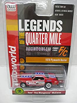 Auto World SC356-2 Legends of The Quarter Mile Tom The Mongoose McEwen  70 Duster HO Scale Electric Slot Car