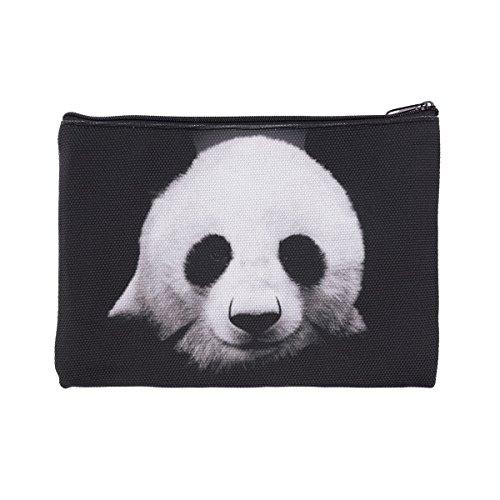 Trousse de Toilette, Trousse a Maquillage, plumier, Organisateur, Trousse Scolaire, Trousse de Voyage. Black Panda [045]