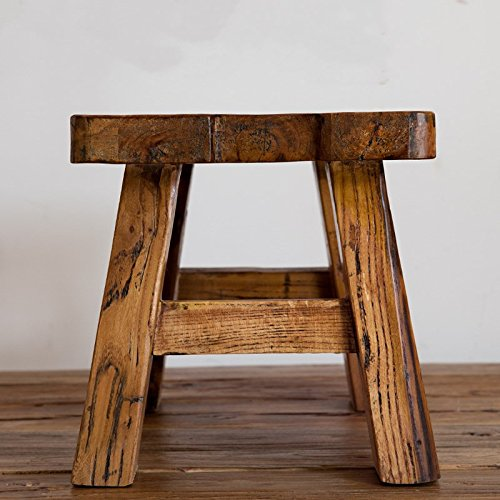 Stool Dana Carrie The old elm changing shoes is all-solid wood bench wood home adult sitting in the living room of tea is square
