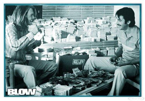 Close Up Johnny Depp Poster Blow (63,5x94 cm) gerahmt in: Rahmen türkis
