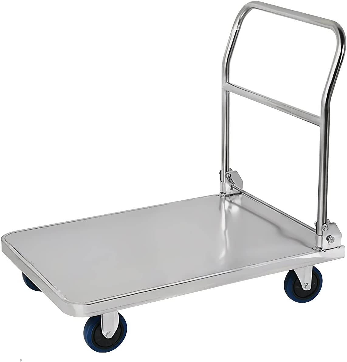 DALIZHAI777 Platform Discount mail order Cart Limited price sale Stainless Truck Steel Foldabl