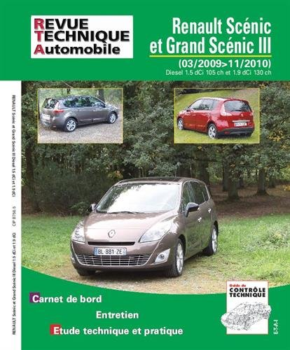 E.T.A.I - Revue Technique Automobile B756 - RENAULT SCENIC / GRAND SCENIC III PHASE 1 - 2009 à 2011