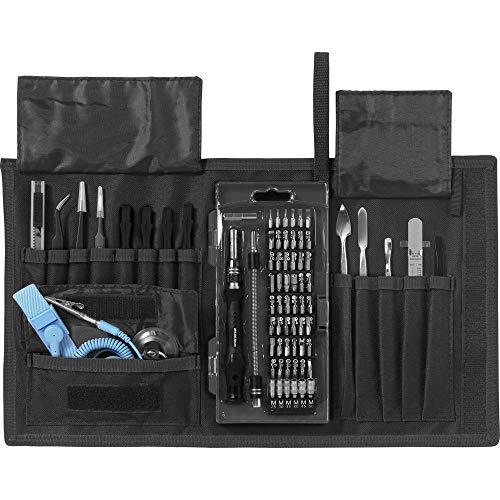 Basetech BT-2255911 KFZ, Heimwerker, Techniker, Smartphone Reparaturset mit Vortasche, mit Werkzeugh
