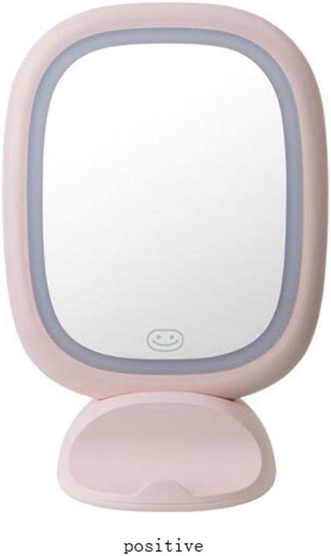 Make-up Schnheit Spiegel Led Kosmetikspiegel Tischlampe Wand Groen Prinzessin Kosmetikspiegel, fairy powder