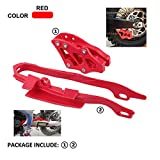 Plastic Chain Slider Guide Protector Protection + Chain Guide Guard For CR125R CR250R 2005-2007 CRF250R CRF450R 2005-2006 CRF250X 2006 CRF450X 2005-2007 Motorcycle Dirt Bike Red