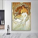 KWzEQ Música Lienzo Pintura Mural decoración Moderna decoración del hogar,Pintura sin Marco,50x75cm