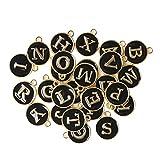 26 piezas de cuentas del alfabeto, cuentas del alfabeto inglés, accesorios de cuentas de bricolaje para pulseras, fabricación de joyas, collar de bricolaje, llavero, suministros para hacer joyas