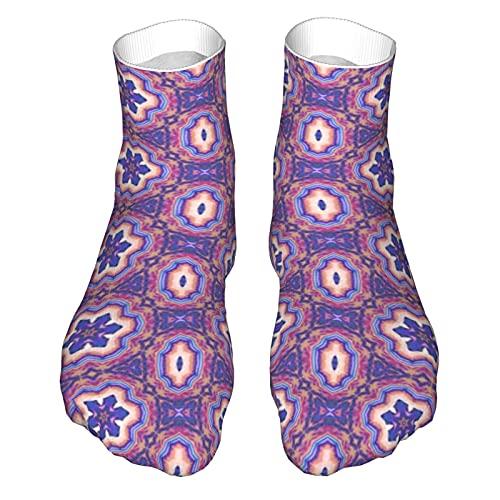 OUYouDeFangA Patrón geométrico sin costuras patrón adulto calcetines divertidos calcetines cortos para yoga senderismo ciclismo correr fútbol deportes