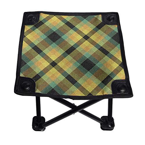 Otoño Woodland - Silla plegable pequeña, portátil, ligera, banco Oxford al aire libre para camping, pesca, senderismo