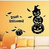 wopiaol Sticker Mural Halloween créatif Chauve-Souris Citrouille Homme Vinyle Enfants dortoir Vinyle Autocollant décoration Murale peintures murales décalcomanie