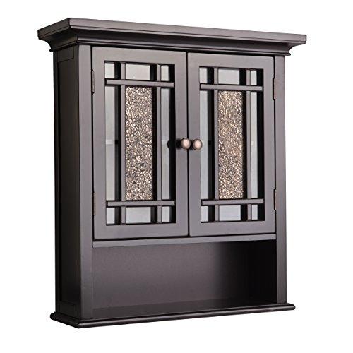 Elegant Home Fashions Windsor Wall Mounted Medicine Cabinet, Dark Espresso