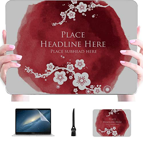 Macbook Pro Case 2018 Cherry Blossom Template Plastic Hard Shell Compatible Mac Air 13' Pro 13'/16' A1708 Macbook Pro Case Protective Cover For Macbook 2016-2020 Version