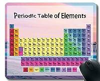 教室のマウスパッドの滑り止め、ステッチされた端が付いている浜の桟橋のピンクのテーマのマウスパッドのための元素の化学チャートの周期表
