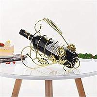 ワインラック カウンター式 ワインホルダー 収納スタンド ワインディスプレイ 部屋装飾可 カウンター立ちメタルワインラック、欧州のホームレトロなワインラックは、バー、ワインコレクターのための適切なホームに最適な装飾です ワインホルダー ワイン棚 彫刻 実用的 インテリア 装飾工芸 ワインラックのみ (Color : A)