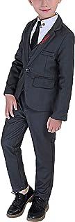 Bling Cat フォーマル スーツ 男の子 フォーマル スーツ 長袖 紳士服 子供服 キッズ 洋服 発表会 入園式 入学式 卒業式 結婚式 七五三 誕生日 110-160cm 3点セット