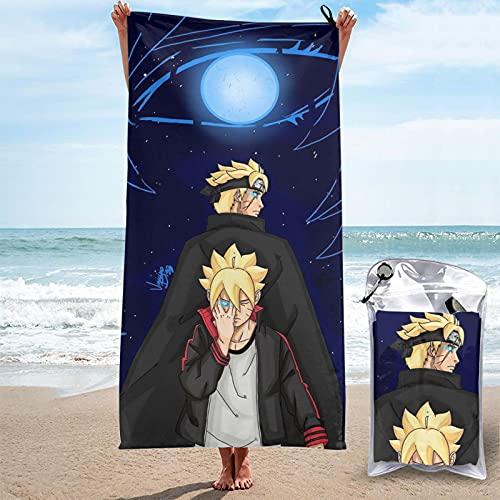 Naruto Toallas de bañoToalla de Playa Toallas de Microfibra Impresión 3D Toalla de Playa Toallas de Piscina de Gran tamaño de Secado rápido