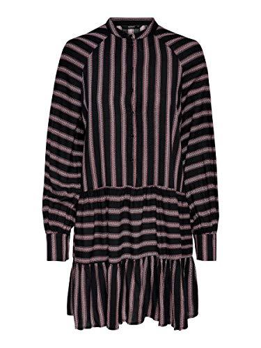 ONLY Female Kleid Gestreiftes 38Black