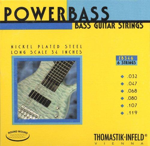 Thomastik Cuerdas para Bajo Eléctrico Power Bass Magnecore entorchado redondo núcleo hexagonal...